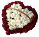 77 Roses Basket Arrangement