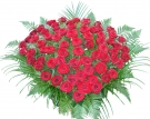 51 Red Roses 50-60 cm at the Basket