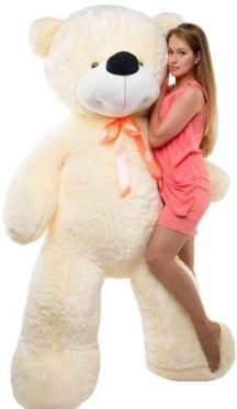 HUGE White Bear 180-200 cm