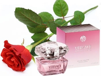 Versace Bright Crystal   And a Rose Presentation
