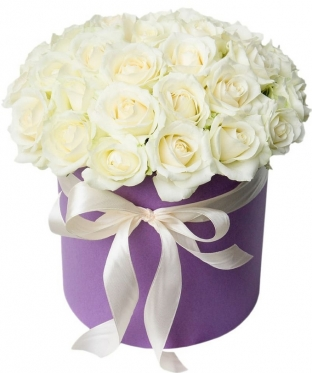 White Roses at the Hat Box