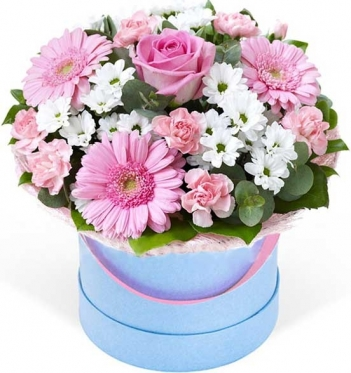 White-Pink Arrangement  .......... At the Hat Box