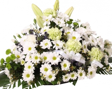 Mourning Arrangement in a Basket