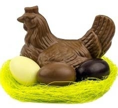 The Chocolate Chicken with Eggs