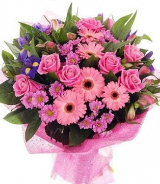 Roses and... Gerberas,  Irises, Chrysanthemums