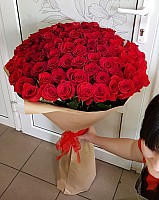 Elite Long Stem Red Roses image 0