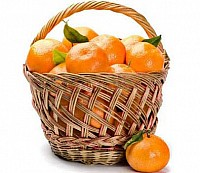 Tangerines & Oranges Basket image 0